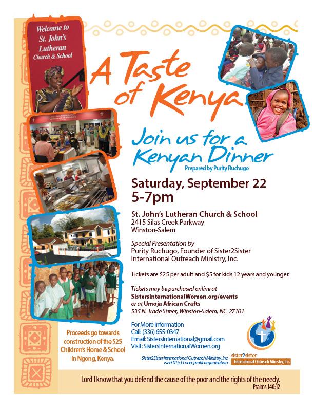 Taste Of Kenya Flyer Fall 2018 Sister2sister International